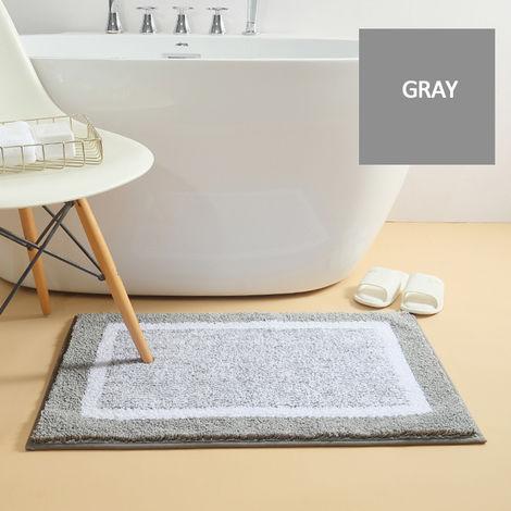40 * 60 cm simple tapis de porte épaissi tapis de sol absorption d'eau anti-dérapant tapis de salle de bain