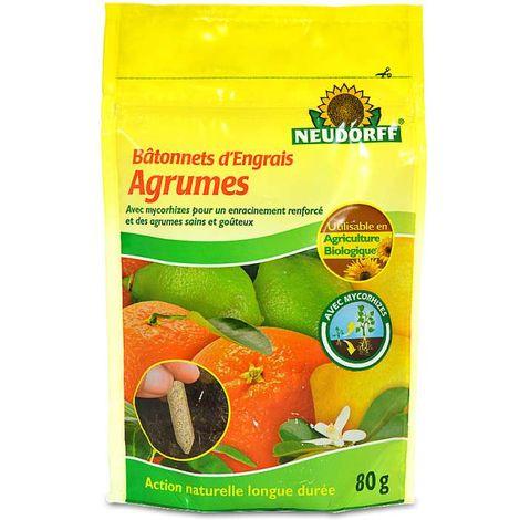 40 bâtonnets d'engrais organique + mycorhizes. Agrumes UAB