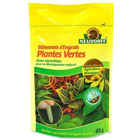 40 bâtonnets d'engrais organique + mycorhizes. Plantes vertes UAB