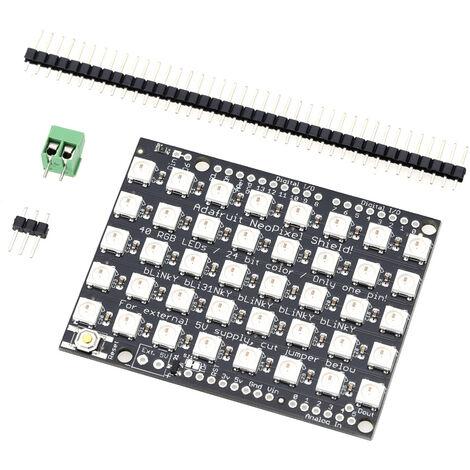"""main image of """"40 Bits 5 * 8 Ws2812B 5050 Rvb Led Integre Color Driver Module De Developpement, Noir"""""""