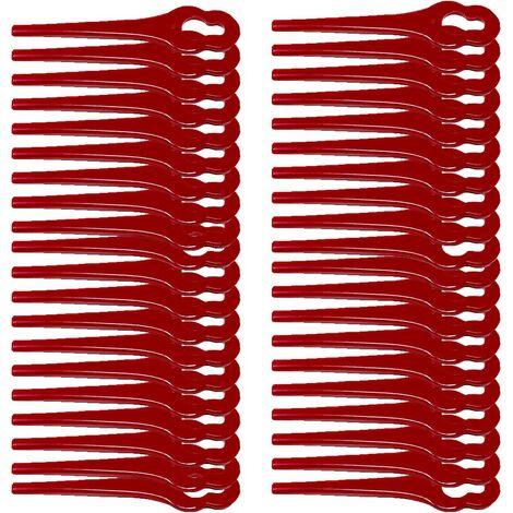 40 Couteaux de rechange, couteaux, plaques de coupe, couteaux en plastique avec disque de coupe, pour tondeuse à gazon à batterie FRTA 20 A1 - LIDL IAN 282271