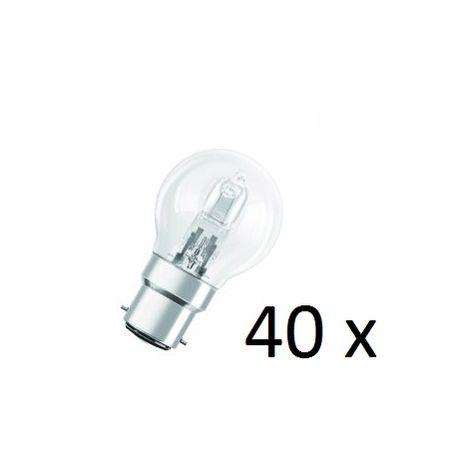 40 Osram Halogen BC-B22 Eco Classic 42W Light Bulb