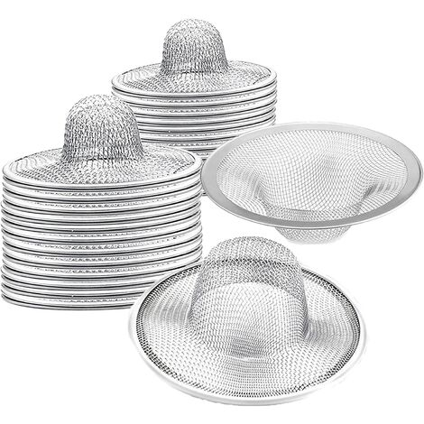 """main image of """"40 pcs Heavy Duty Stainless Steel Slop Basket Filter Trap, 2.75"""" Top / 1"""" Mesh Metal Sink Strainer,Perfect for Kitchen Sink/Bathroom Bathtub Wash basin Floor drain balcony Drain Hole"""""""