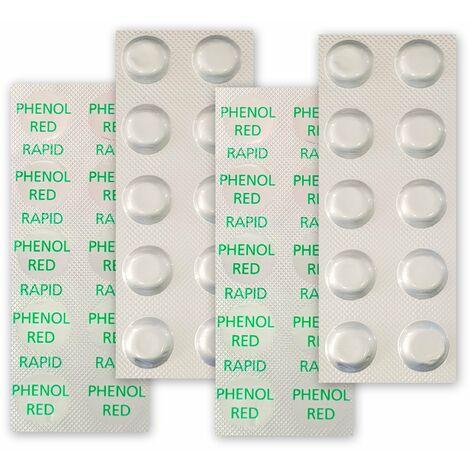 40 Testtabletten pH-Wert Messung (phenol red)