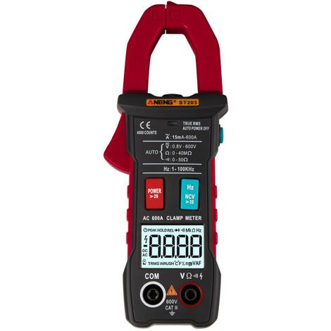 4000 automatic range digital current multimeter without battery red