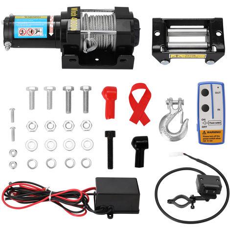 4000Lbs Electrique De Recuperation Treuil Kit Vtt Camion Remorque Voiture Dc12V A Distance Treuils Controle