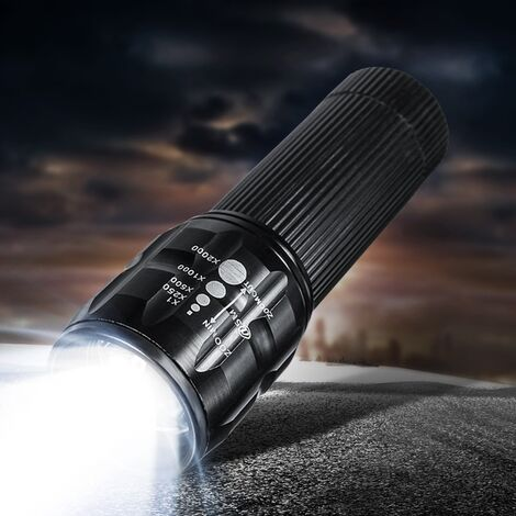 4000Lumen Mini Q5 Linterna LED Lámpara de antorcha a prueba de lluvia Foco con zoom Luz de antorcha Bicicleta Luz de cabeza delantera Linterna de bicicleta 3 modos