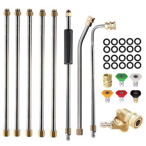 4000PSI Kit de limpieza de extensión de varilla de arandela de boquilla de pulverización de alta presión