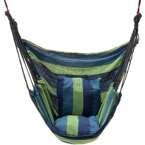 400KG Capacity Colorful Portable Hanging Hammock Chair Swing Chair With 2 Pillow