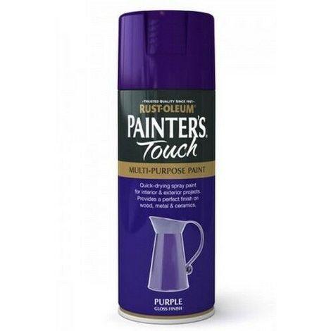 400ml Rust-Oleum Purple Gloss Finish Painters Touch Spray Multi Purpose