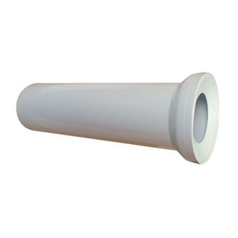 400mm long White WC Toilet Waste Water Straight Pan Connector Soil Pipe 110mm