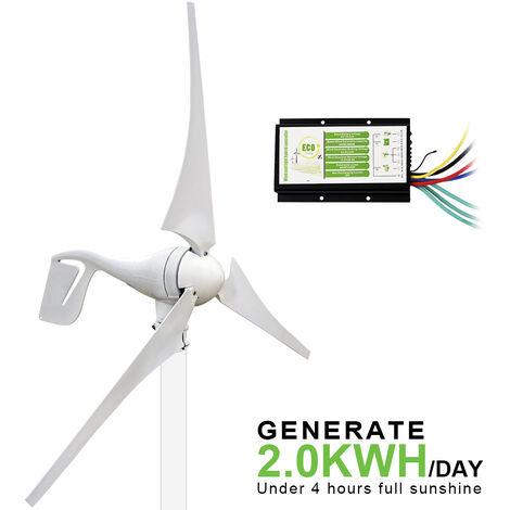 400W 12V / 24V DC Générateur de vent et 20A Contrôleur hybride Aimant permanent pour la maison