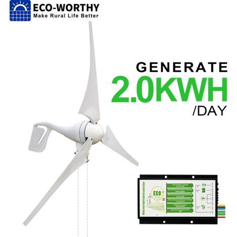 400W Generador de turbinas eólicas híbridas con carga de energía eólica con controlador híbrido Inicio