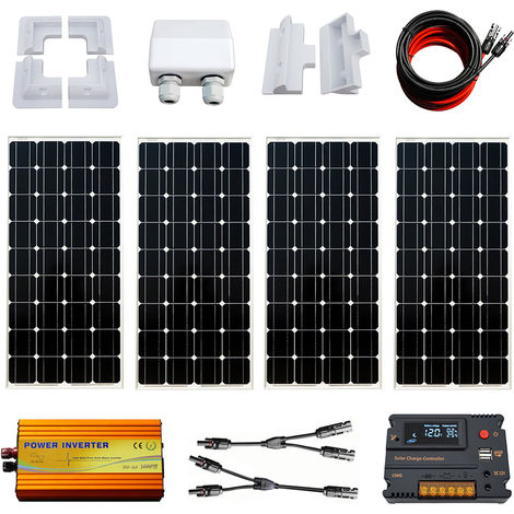 400W Solar Panel Kit 20A charger controller 1000W 24V-220V inverter for Home