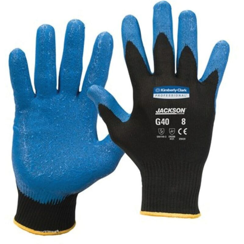 Image of Jackson Safety 40226 G40 Nitrile Blue Gloves S.8