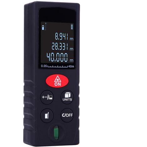 40m/131ft,Medidor de distancia laser digital de mano, medicion de volumen de area