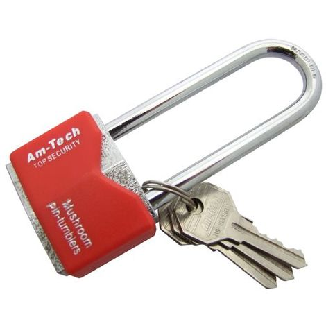 Amtech Heavy Duty Padlock 70mm Safety Security Lock+4 Keys Garage Diy Gate Shed