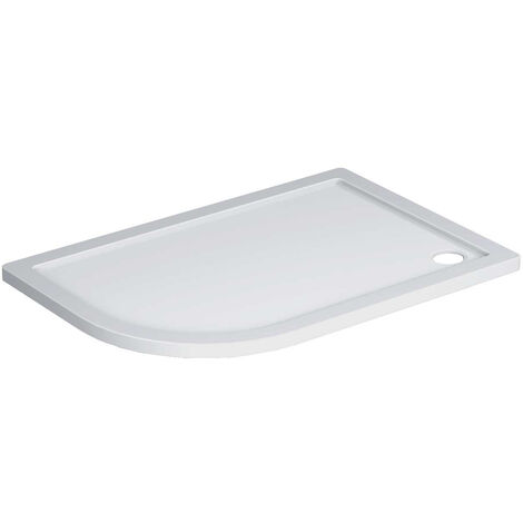 40mm Pearlstone 1200 x 800 Left Hand Offset Quadrant Shower Tray