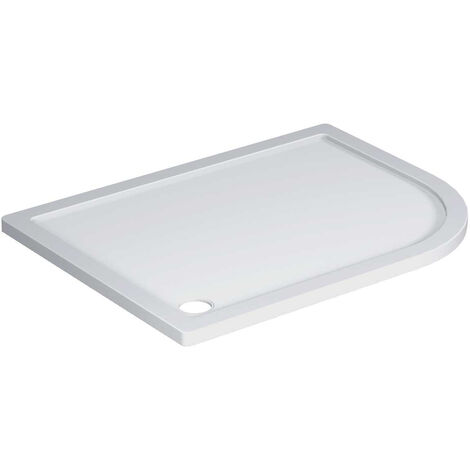 40mm Pearlstone 1200 x 900 Right Hand Offset Quadrant Shower Tray