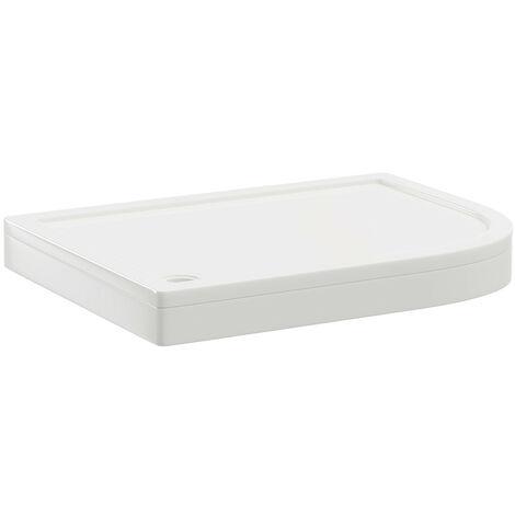 40mm Pearlstone 1200 x 900 Right Hand Offset Quadrant Shower Tray & Plinth