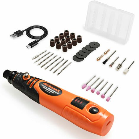 40pcs Cordless Mini Rotary Tool Set Drill Grinder Craft Multi-Purpose Portable