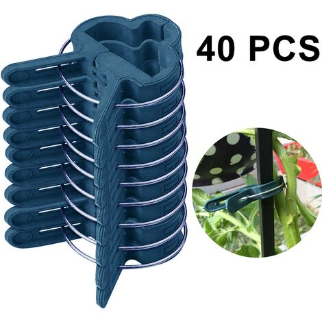 40PCS Garden clip seedling grafting flowers and garden decoration garden clip size optional Gardening Spring Clips for Plants, Stems Support, large