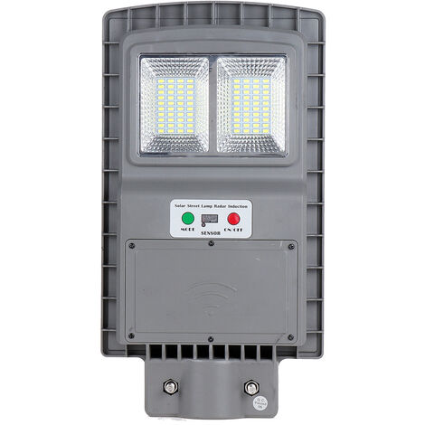 40W LED Applique Réverbère Télécommande Radar Motion Timing 3 En 1 Lampe Solaire Gris
