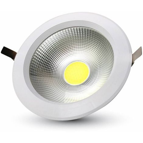 40W SPOT LED ENCASTRABLE ROND 120° 4800LM Φ207MM A++ MOD VT-26451 SKU 1279 4000K
