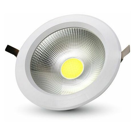 40W SPOT LED ENCASTRABLE ROND 120° 4800LM Φ207MM A++ MOD VT-26451 SKU 1279 4000K