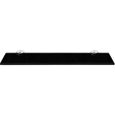 40x10CM Glass shelf + holder Black Bathroom shelf Mirror shelf Bathroom shelf Console