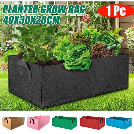 40x30x20cm Jardin Plantation Cultiver Sacs En Tissu Pomme De Terre Tomate Planteur Extérieur Noir noir 40 x 30 x 20
