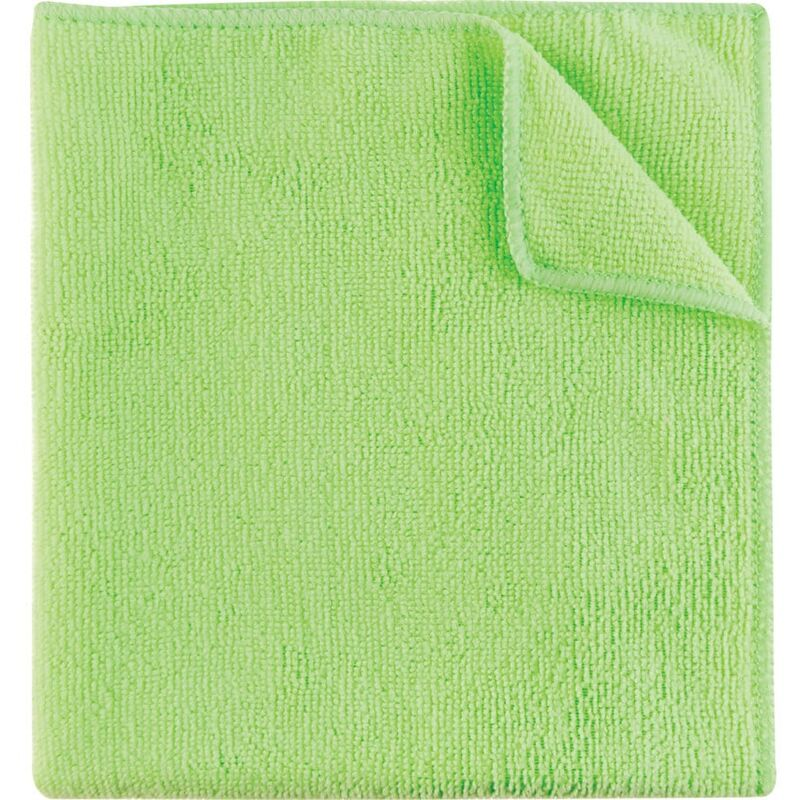 Image of 40X40CM Economy Green Microfibre Cloth 36G- you get 5 - Cotswold