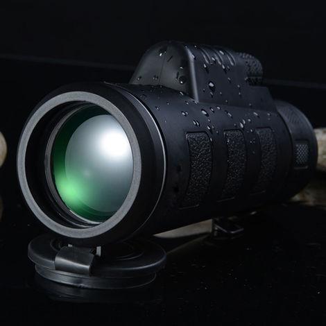 40X60 Bak4 Mini Night Vision Telescope Monoculaire Hd Vision Prism Portee Chasse Camping En Plein Air Randonnee Peche Telescope Grand Angle