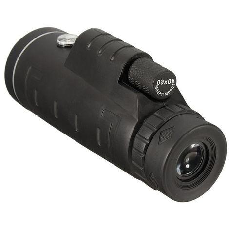 40X60 HD telescopio monocular de vision nocturna al aire libre Senderismo Binoculares, con el clip de telefono y el tripode