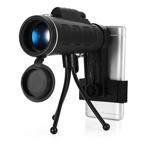 40x60 Monocular Telescope HD Night Vision Bak4 Prism Phone for iPhone Samsung Hasaki