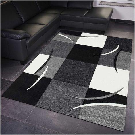 40x60 - UN AMOUR DE TAPIS - DIAMOND COMMA - - petit tapis Moderne Design - Tapis entrée et tapis chambre - tapis Rouge, gris, noir, créme - Couleurs et Tailles Disponibles