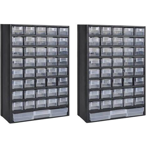41-Drawer Storage Cabinet Tool Box 2 pcs Plastic