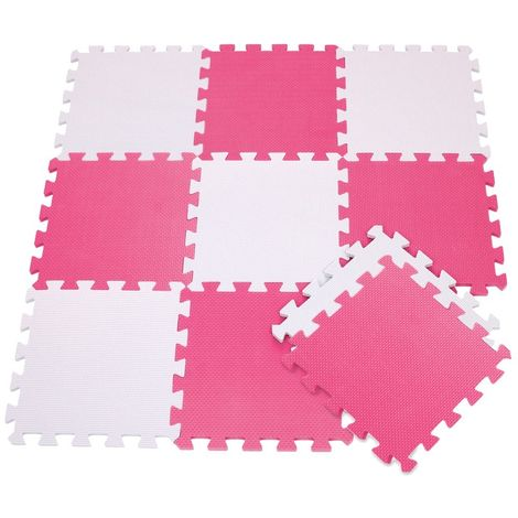 410387 Alfombra puzzle goma EVA 10 pz juego modular 29.5 x 29.5 cm BICOLORE