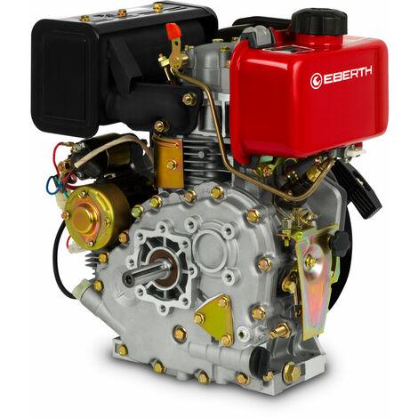 4,2 CV 3,1 kW Moteur Diesel (E-Start, 19,05 mm Arbre, Alarme manque dhuile, 4 Temps, 1 Cylindre, Refroidissement à air, Démarrage via câble, Batterie)