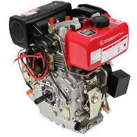 4.2 HP 3.1 kW Diesel Engine (E-Start, 19,05 mm Shaft, Low Oil Protection, Air-cooled Singel Cylinder 4-stroke Engine, Recoil Start, Alternator, Battery) Motor