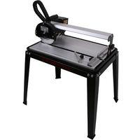 420 mm Tagliapiastrelle elettrico con il Laser (rotazione continua fino a 45°, Profondità di taglio 25 mm, Battuta angolare, Disco diamantato)