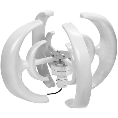 4200W 4 palas generador de turbina de viento vertical AXIS Power Set 24V blanco