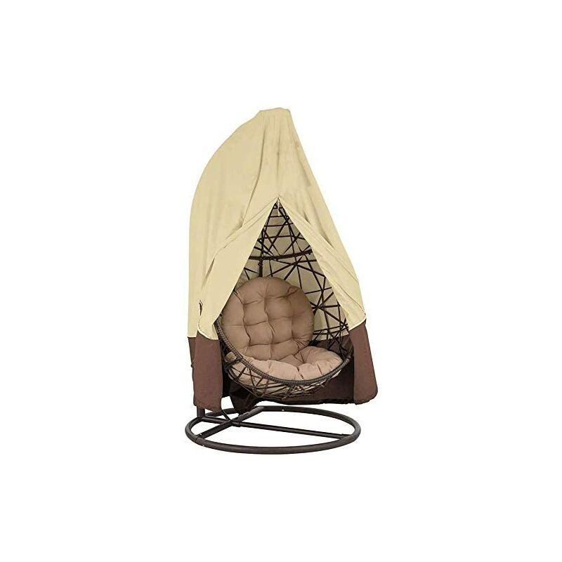 Bearsu - 420D Housse de protection pour fauteuil suspendu avec fermeture éclair Oxford 190 x 115 cm/232 cm x 203 cm Housse de protection étanche pour
