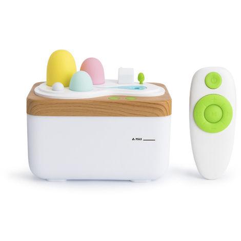 420ml humidificateur d'air ultrasonique USB Aroma Huile essentielle Diffuseur brumisateur Mist Maker Campagne telecommande avec la lumiere pour Home Office, 1 #