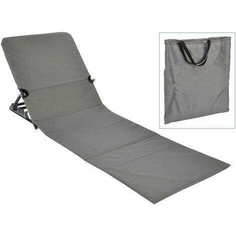 423980 HI Foldable Beach Mat Chair PVC Grey
