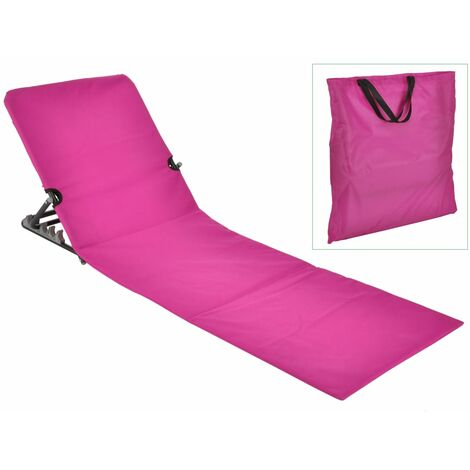 423981 HI Foldable Beach Mat Chair PVC Pink
