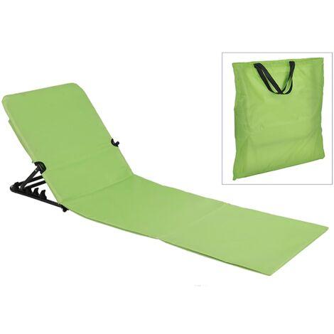 423982 HI Foldable Beach Mat Chair PVC Green