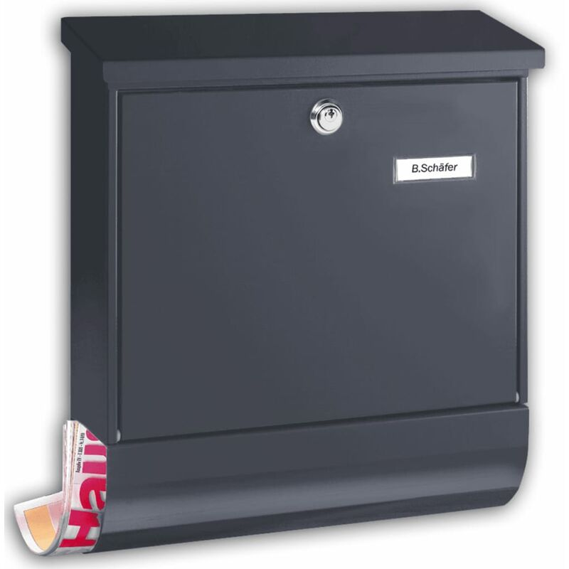 Image of Letterbox Set Vario 86720 ANT Steel Anthracite - Burg-wächter
