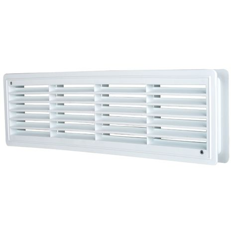 424x91mm White Internal Door Plastic Ventilation Grille Rectangle Air Vent