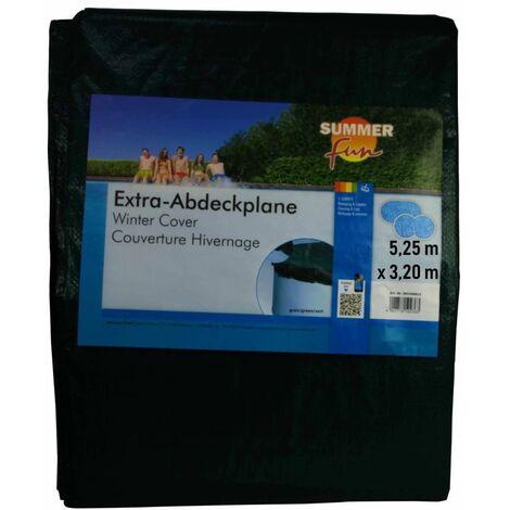 426461 Summer Fun Winter Pool Cover Oval 525 cm PVC Green